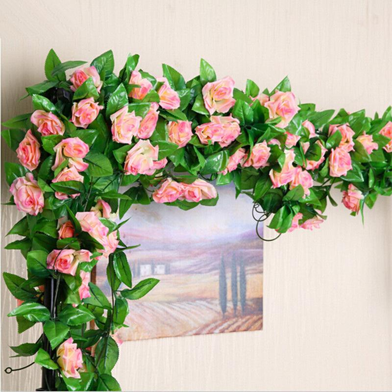 245cm Wedding Decoration Artificial Fake Silk Rose Flower