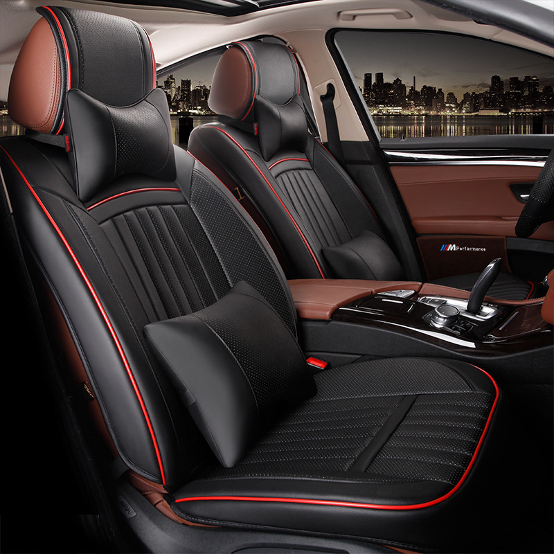 automobile seat covers car cushion set pu leather red for Agila Vectra Zafira Astra GTC PAGANI ZONDA SAAB Spyker RAM HUMMER auto in Automobiles Seat Covers from Automobiles Motorcycles