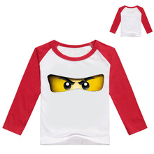 Z&Y 3-9Years Legoes Roblox Shirt Game Teenage Boys Clothing Long Sleeves Shirt Children Girls Cartoon Costume Kids Menino NO7227
