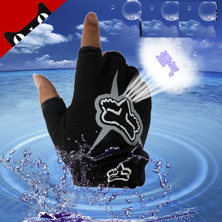 ФОТО Fishing exercise glove anti-skid breathable perspiration driving riding gloves sunscreen