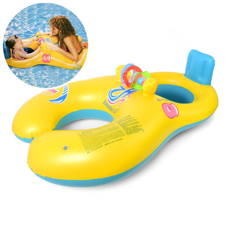 New Inflatable Mother Baby Swim Float Ring Mother And Child Swimming ...