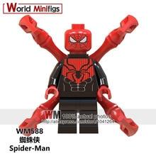 Venta única Marvel clásico Super Heroes Spiderman veneno araña chico mujer G-wen Building Block figuras juguetes niños regalo