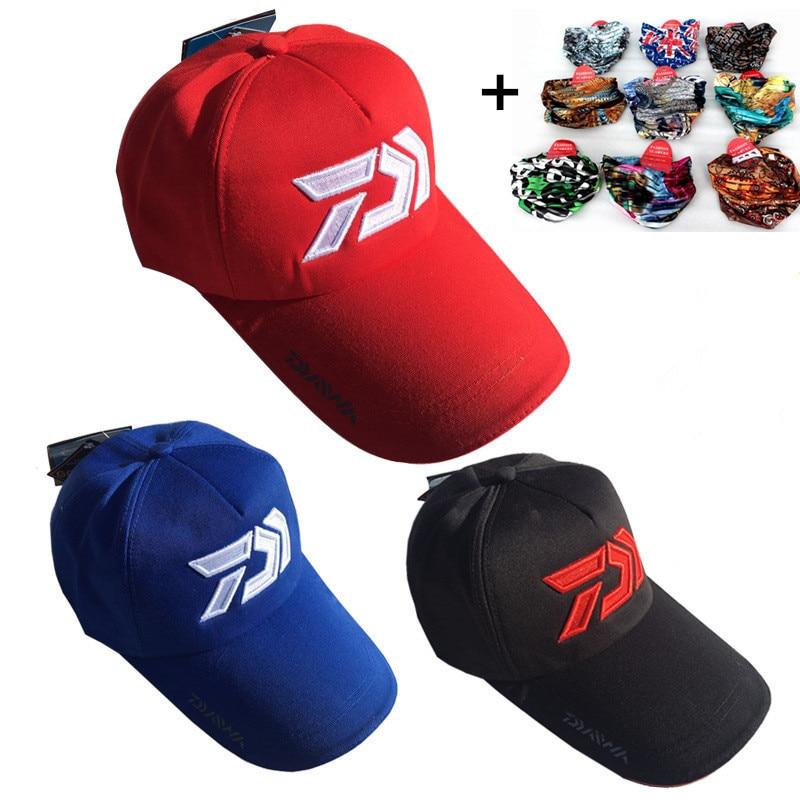 2019 Daiwa Adult Men Unisex Adjustable Fishing Sunshade Sport Baseball Fishermen Hat Cap Special Bucket Hat With Letter