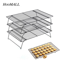 Hoomall 3 Layer Stainless Steel Nonstick Cooling Rack Baking Cake Cookies Bread Cooling Grids Tool Kitchen