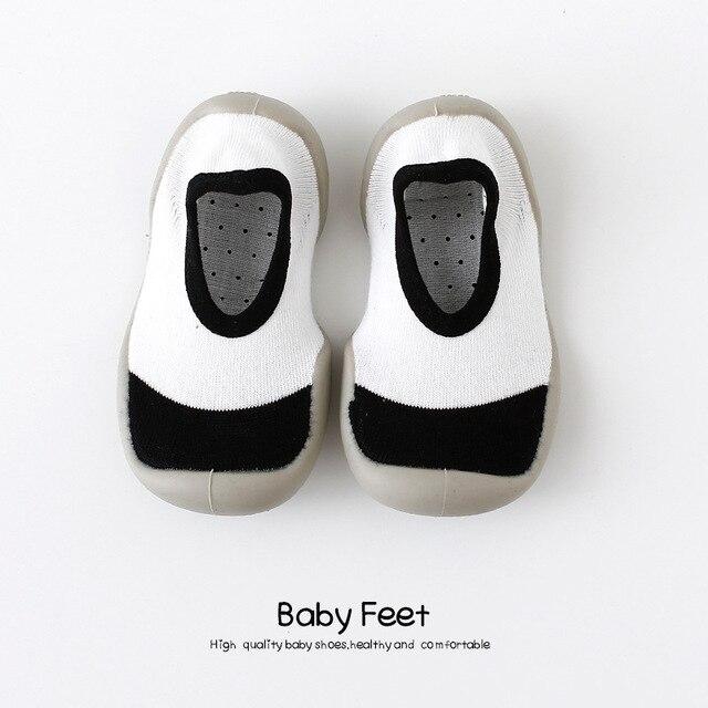 Del fumetto del bambino anti-skid calzini del pavimento, la primavera e l'estate della stampa del leopardo per bambini scarpe con suola in gomma, bambino toddlers'shoes e calzini 6
