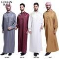 LURRSN Malasia Al Por Mayor de Europa de Manga Larga Musulmán Árabe Thobe Hombres Thobe iIslamic 2017 NUEVO Tamaño 3XL Batas Vestido TH804 Enlarg