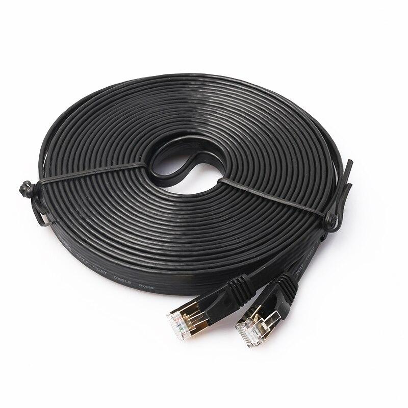 # H01 KATZE-7 Ethernet Ultra Flache RJ45 Patch Kabel für Modem Router LAN Netzwerk Gebaut in Gold Überzogen anschlüsse