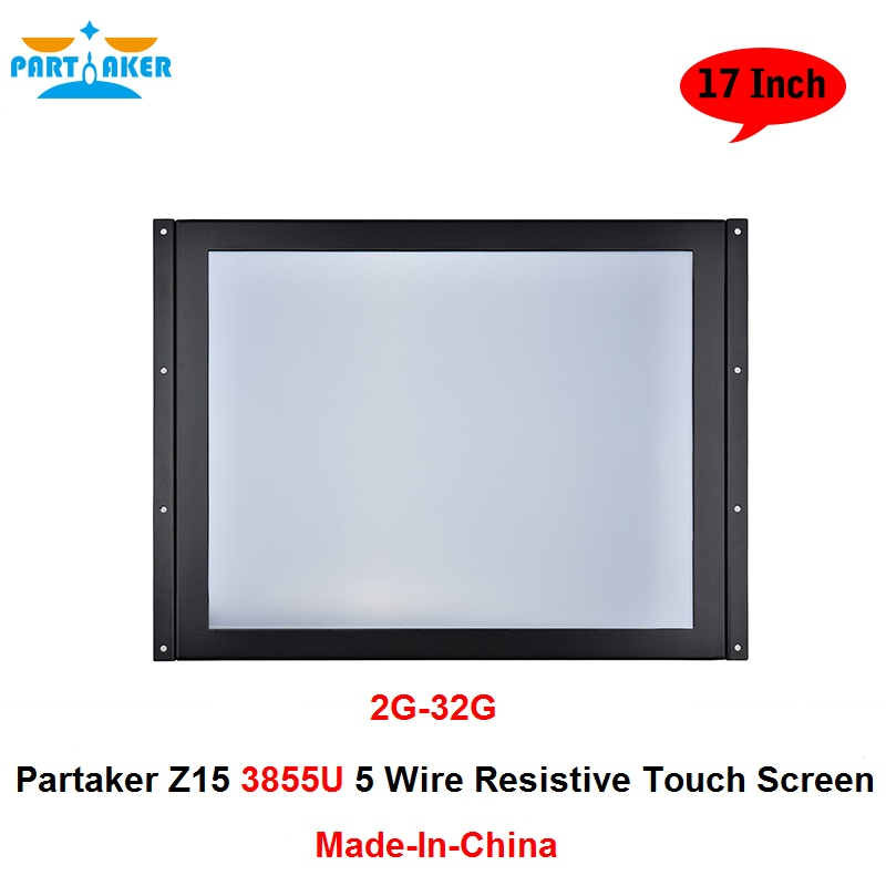 Partaker Z15 Industrial Panel PC Touch Screen With 17 Inch Made In China 5 Wire Resistive Touch Screen Intel Celeron 3855u 15 inch 5 wire resistive touch screen gps tablet pc mid touch panel industrial use with 2g ram 32 g ssd
