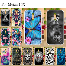 Meizu 16x Case For Cover Silicone Fundas Phone Cases Bumper Shell Soft TPU Painted