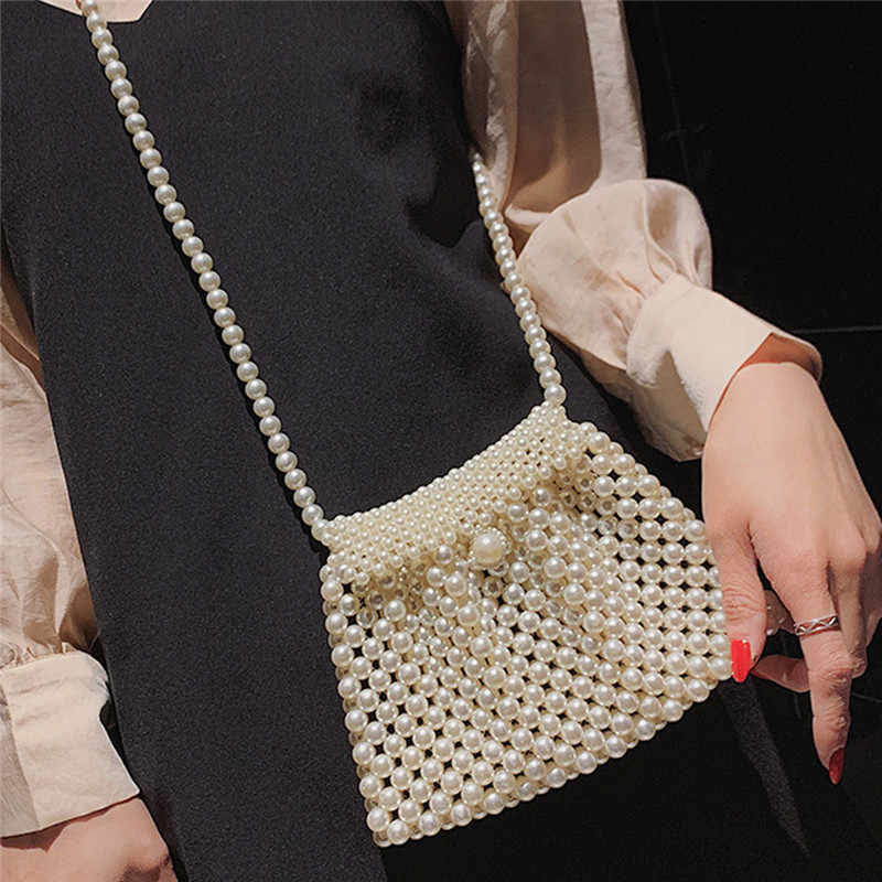 Bolso de mujer tejido de perlas Multi clase bandolera ASA taschen mujeres bolsa masculina bolsa femme bolsas feminina 2019