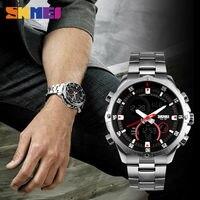 SKMEI Men Luxury Quartz Watches Multifunction Double Time Digital Watch Fashion Military 30M Waterproof Wristwatch Montre