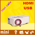 Newest Protable Pocket Mini Game Digital LED VGA Video Projector support 640*480,Max 80Lumens with HDMI VGA, AV, USB, SD Card