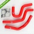 Красный Силиконовый Шланг Радиатора Комплект Для HONDA CR85 CR80 CR85R 96-07 97 98 99 00 01 02