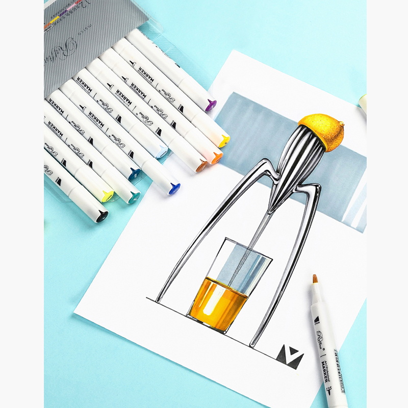Marco Marker 12 30 60 120 Color Art Markers Set Dual Headed Artist Sketch Oily Alcohol based markers For Animation Manga in Art Markers from Office School Supplies