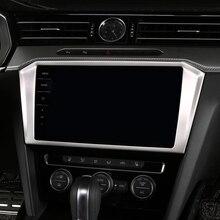 Для Фольксваген Passat B8/Arteon/Wagon 2017 2018 нержавеющая центральной консоли gps навигации отделкой Стикеры стайлинга автомобилей 1 *