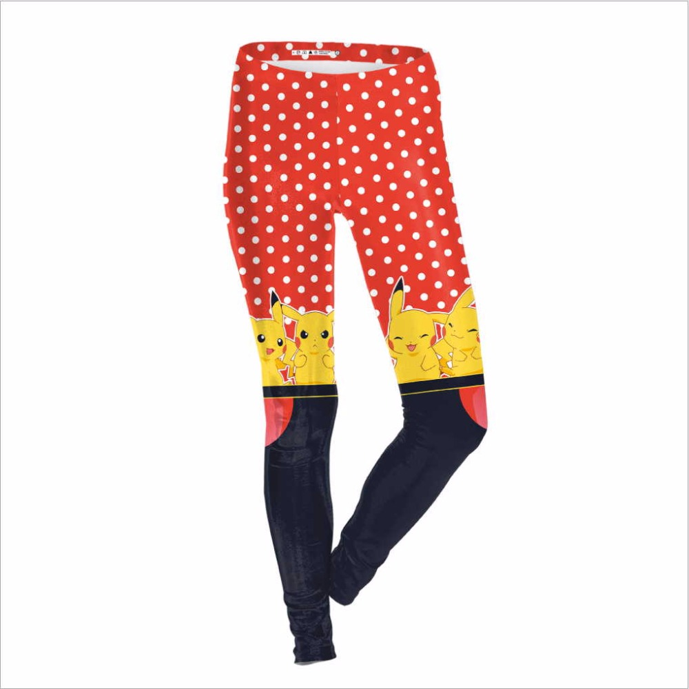 Game Pokemon Costume Pikachu Women Cosplay Legging Summer Autumn sexy pokemon go pants anime clothing Slim comfortbale Tight