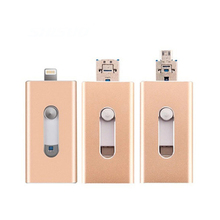 USB Flash Drive,3 in 1 OTG 2.0 Drive 32GB, for iPhone 6/6s 6plus iPhone7 iPad Android Cellphones & Computers pendrive