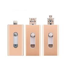 все цены на USB Flash Drive,3 in 1 OTG USB 2.0 Flash Drive 32GB, for iPhone 6/6s 6plus iPhone7 iPad Android Cellphones & Computers pendrive онлайн