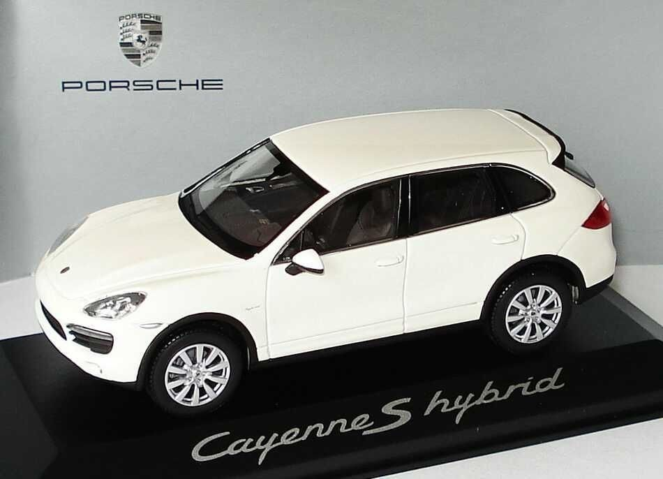 CAYENNE S HYBRID 2010 SANDWEISS MINICHAMPS WAP0200040B 1/43 WHITE BLANC