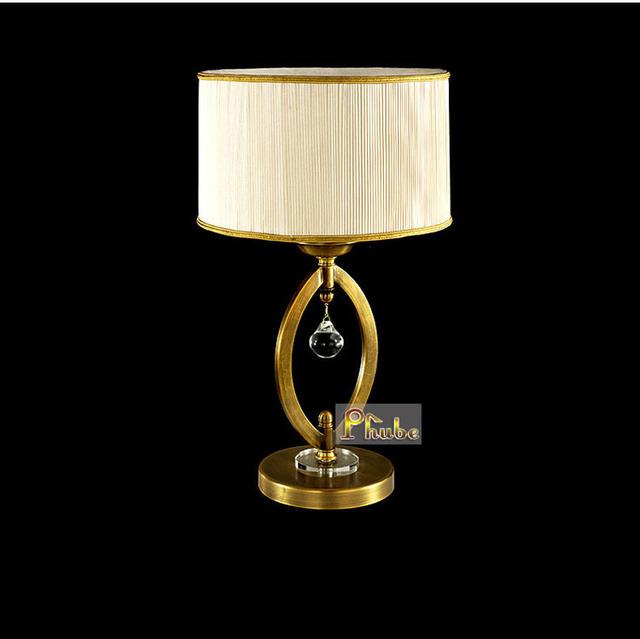 Cobre Lámpara de Mesa Moderna lámpara de Mesa Lámpara de mesita de noche Dormitorio lámpara de Escritorio Lámpara de Mesa de oficina Garantizado 100% + free!