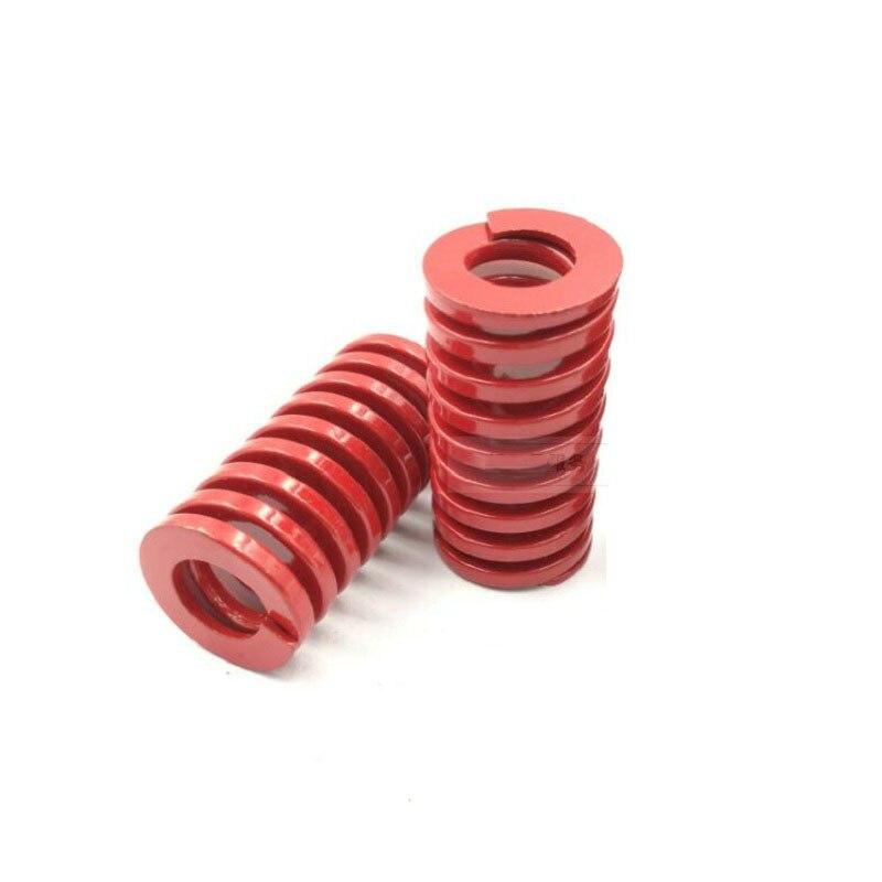 OD 40mm Vermelho molde de compressão de carga médio primavera primavera retangular X2
