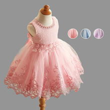 Baby Girls lace Dress Flower Printing Tutu  Girls Costume Children Princess vest  Mesh Wedding Party  Dresses vestido infantil 2019 summer new girls dress baby princess mesh dress tutu child flower vestido children clothing baby costume