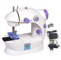 Mini điện gia dụng sewing machine kép tốc độ với nguồn cung cấp điện, hộ gia đình nhỏ vành đai sartorially biến áp Tiếng Anh Của Nhãn Hiệu