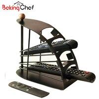 4 Layers TV Remote Control Storage Holder Black Basket Air Conditioning Racks Organizer Home Item Gear