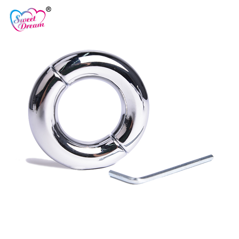 Sweet Dream 28/30/33/39/45/50mm Stainless Steel Penis Rings Cock Rings Scrotum Pendant Sex Toys for Men Sex Products BLM-105