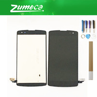 For LG L FIno D292 D290N D295 D390 F60 LG D290 LCD Display Screen+Touch Screen Digitizer Replacement Part Black Color+Tape&Tool
