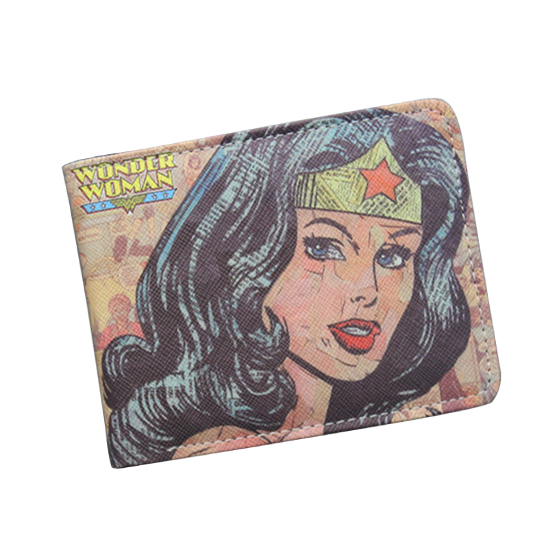Wonder Woman Wallet Fashion Cartoon Superwomen Wallet Super Hero Purse Personalized Women Anime Wallet For Teens Girl Student