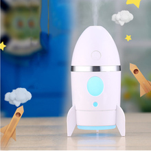 FFFAS Mini Rocket USB Humidifier Aroma Essential Oil Diffuser Ultrasonic Mist Air Spray Cut Fog Sprayer Steam Maker USB Gadgets