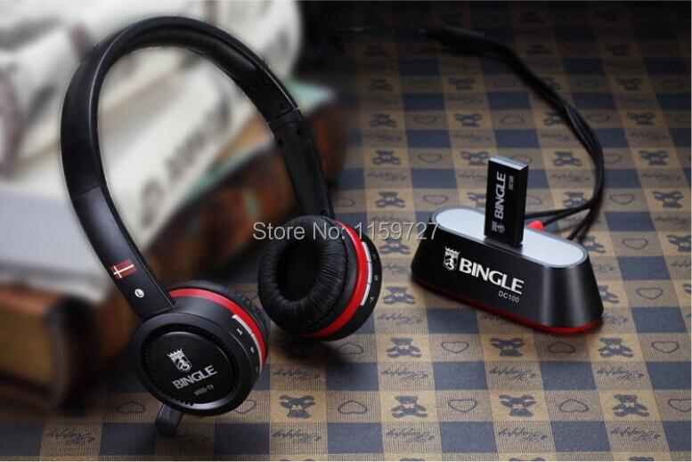ФОТО Bingle N600-TV Rechargeable Multifunction 2.4G Wireless Headset TV Headphones with Microphone for TV PC Pad Phones MP3