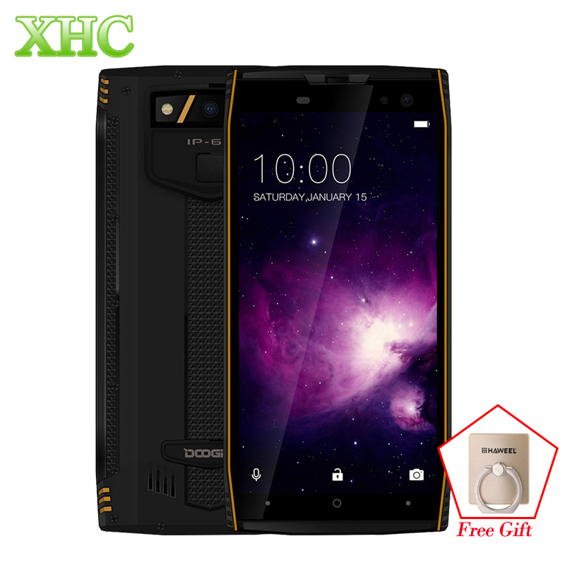 DOOGEE S50 6GB 128GB Smartphone Octa Core Dual 16MP IP68 Waterproof Fingerprint ID 5.7 inch Android 7.1 Dual SIM 4G Mobile Phone
