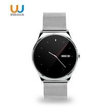 2016 uwatch neue 0,98mm runden bildschirm smart watch bluetooth herz Rate Monitor Smartwatch Für IOS Android PK Makibes k88h u8 KW18