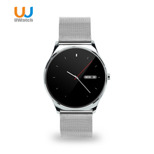 2016 UWATCH New 0.98mm Round Screen Smart Watch Bluetooth Heart Rate Monitor Smartwatch For IOS Android PK Makibes US03 k88h u8