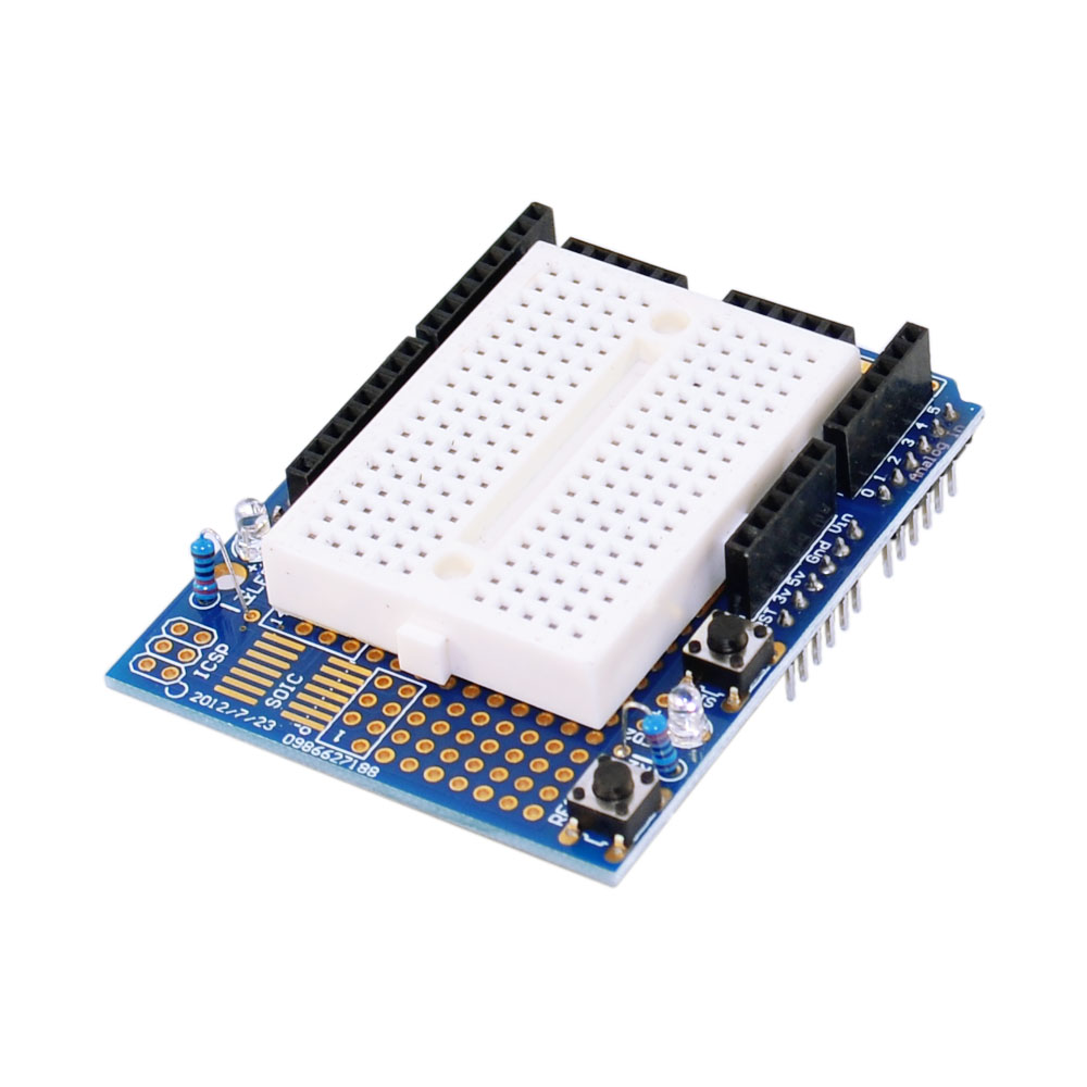 Other Electronic Components UNO R3 ProtoShield With Mini Breadboard For Arduino