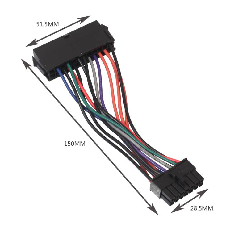 15cm ATX <font><b>24pin</b></font> to 14pin <font><b>Adapter</b></font> Power Cable Cord for Lenovo IBM Q77 B75 A75 Q75 Motherboard 18AWG Computer Cable image
