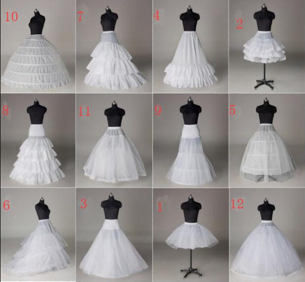 Girls Wholesale In Stock Crinoline Petticoat All Style TuTu Hoop Underskirt Bridal Petticoats Prom Dress Rockabilly Accessories