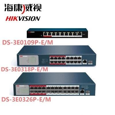 DS-3E0105P-E DS-3E0109P-E DS-3E0318P-E DS-3E0326P-E 100Mbps POE switch ds cj ds qfn24