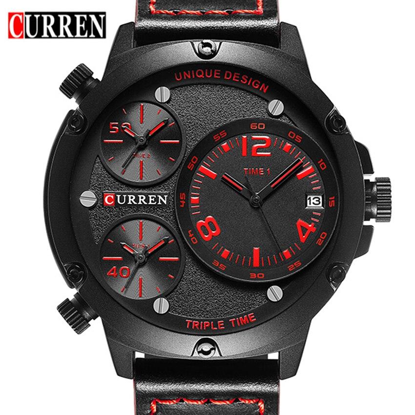 Prix pour Reloj Hombre Curren Montre Hommes Top Marque De Luxe Hommes D'affaires de Quartz-montre Sport Casual Horloge Hommes Montres Relogio Masculino