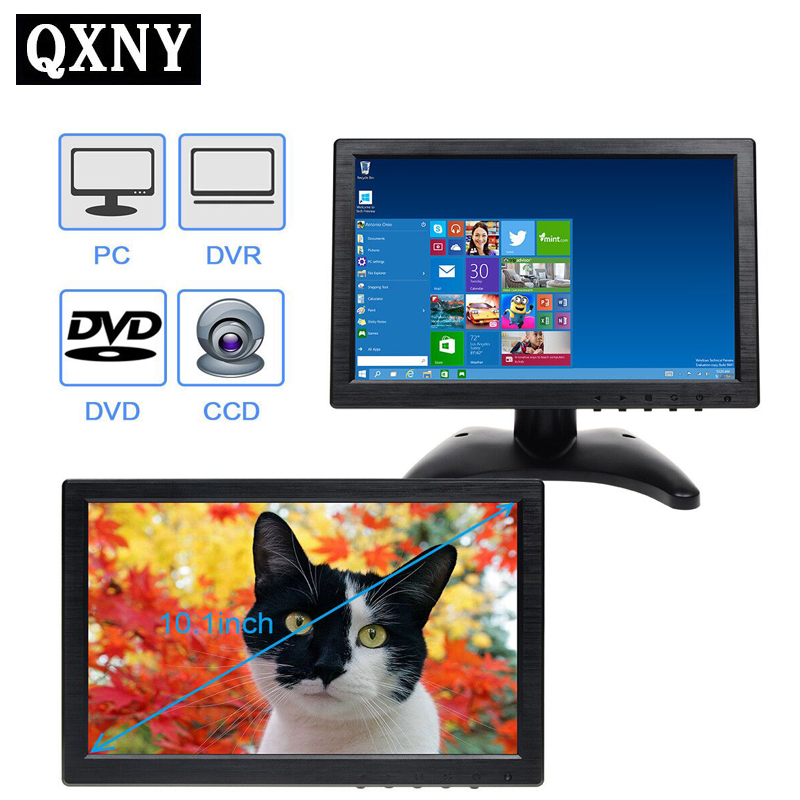 QXNY 10.1 LCD HD Monitor & Computer Display Color Screen 2Channel Video Input Security Monitor With BNC / AVI / VGA / HDMIQXNY 10.1 LCD HD Monitor & Computer Display Color Screen 2Channel Video Input Security Monitor With BNC / AVI / VGA / HDMI