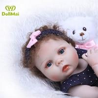 Kawaii Real baby doll reborn 2357cm full silicone reborn baby girl dolls fashion newborn babies alive BJD doll gift for child