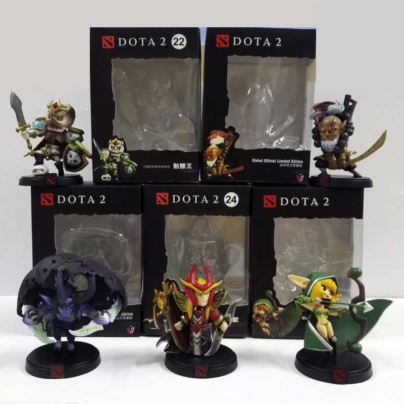 5pcs/set Dota 2 Game Action Figure Toys Juggernaut SNK Soul Guard Windranger PVC Collection dota2 Toys Cute Mini Dolls ems shipping 12 sets cute super mario game mario luigi brothers set pvc action figure collection model dolls toy 3pcs per set