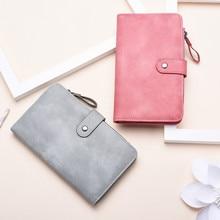 цены на 2019 Fashion Women Wallets Quality Lady Handbags Long Money Bag Zipper Hasp Coin Purse Cards ID Holder Clutch Purse  в интернет-магазинах