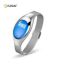 Azexi Модные женские Смарт-часы Z17 браслет с Приборы для измерения артериального давления сердечного ритма Мониторы шагомер Фитнес трекер для андроид iOS