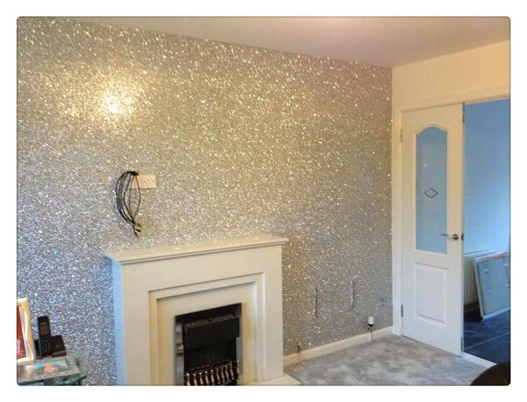 comprar metro por rollo ltimo bling d wallpaper wallpaper plata chunky para pasillo de silver wallpaper fiable proveedores en glitter