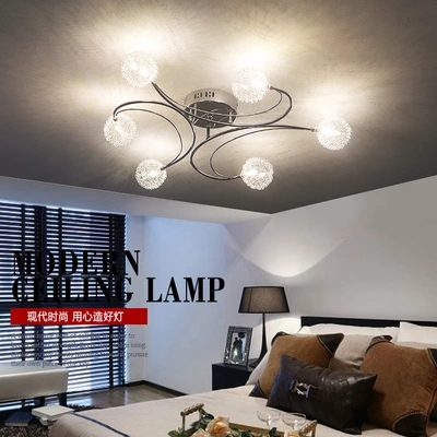 New Modern 6 Light Plating Aluminum LED Ceiling Lights Fixtures Living Room Dining