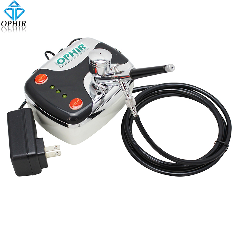 OPHIR 12V DC Portable Airbrush Compressor with 0.3mm Airbrush Gun for Cake Decorating Art Hobby Paint _AC002+AC004 ophir 12v dc portable airbrush compressor with 0 3mm airbrush gun for cake decorating art hobby paint ac002 ac004