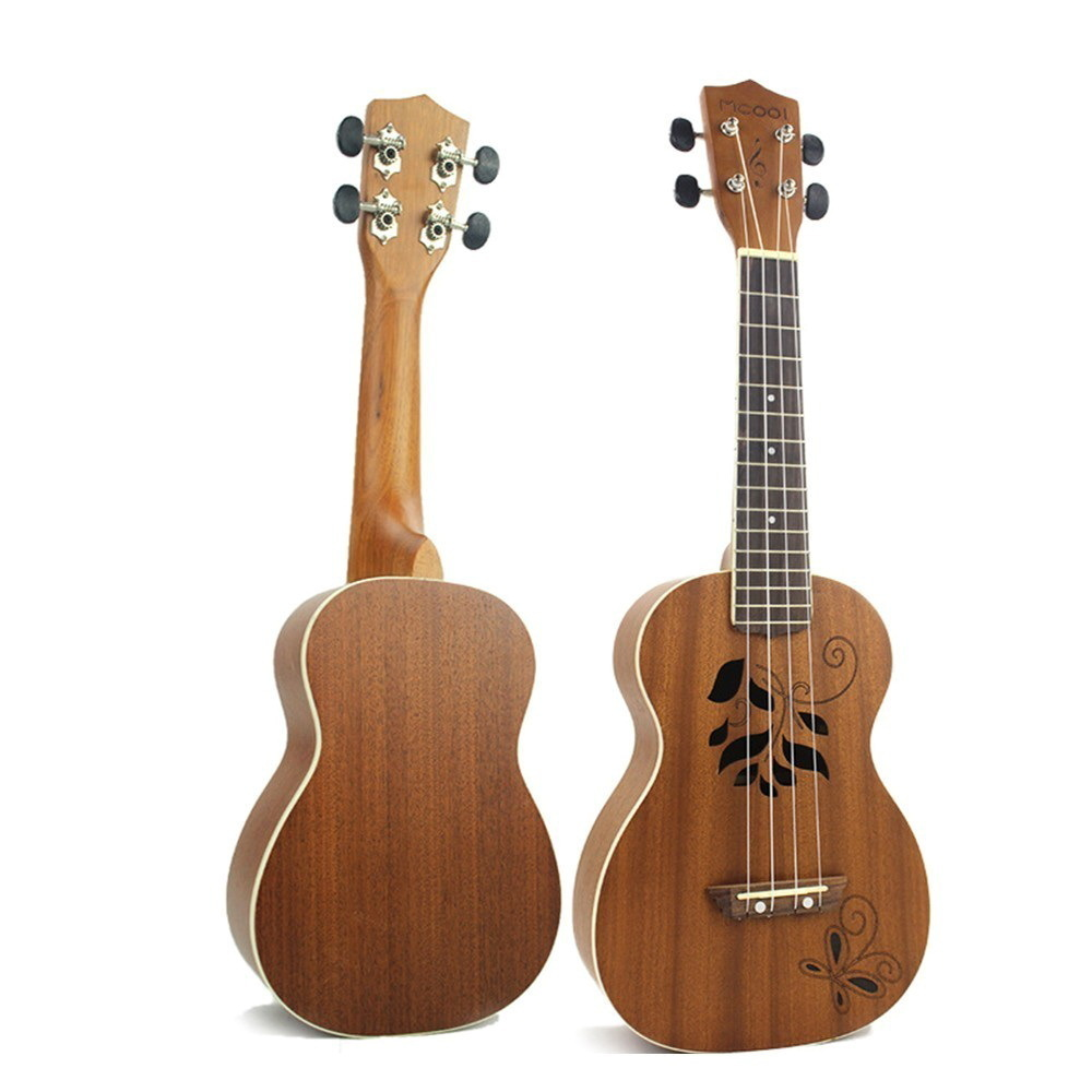 23 Inch Uicker Woodiness In Small Guitar Vuk Lily Four Stringed Instrument Ukulele school educational supplies bts midi WJ-JX31 zebra professional 24 inch sapele black concert ukulele with rosewood fingerboard for beginner 4 stringed ukulele instrument